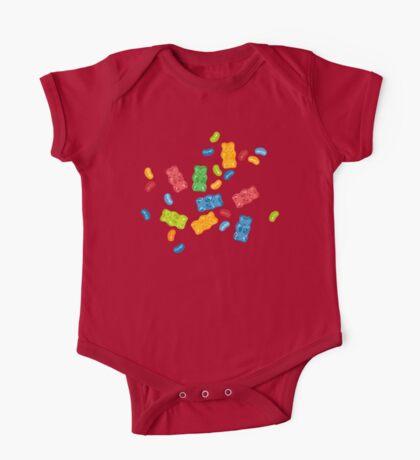 Jelly Beans & Gummy Bears Pattern One Piece - Short Sleeve