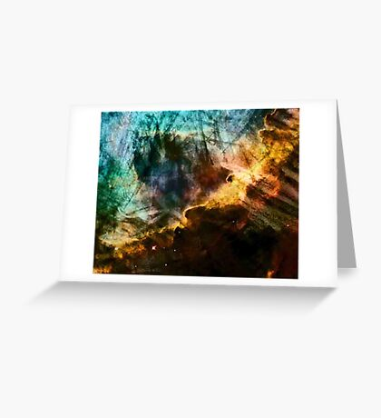 Omega/Swan Nebula - Charcoal & Colour Greeting Card