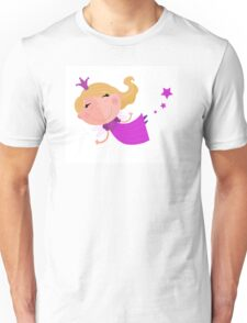 Cute Fairy Princess Character isolated on white background Unisex T-Shirt
