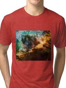 Omega/Swan Nebula - Charcoal & Colour Tri-blend T-Shirt