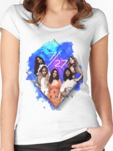 Fifth Harmony 7/27 Blue Women's Fitted Scoop T-Shirt