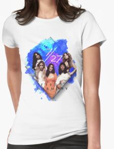 Fifth Harmony 7/27 Blue Womens Fitted T-Shirt