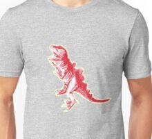 Dino Pop Art - Lime & Red T-Rex Unisex T-Shirt