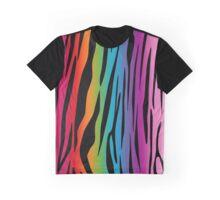 Bright Rainbow Tiger Graphic T-Shirt