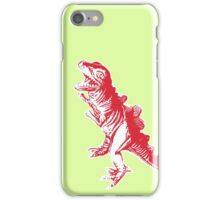 Dino Pop Art - Lime & Red T-Rex iPhone Case/Skin