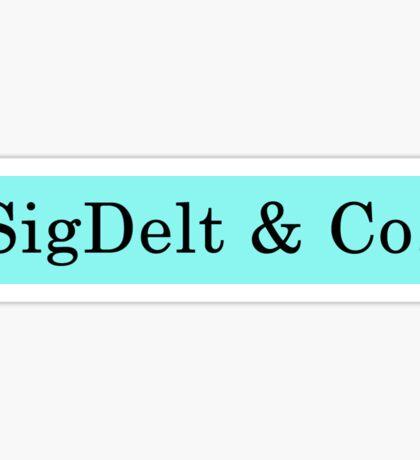SigDelt & Co Sticker