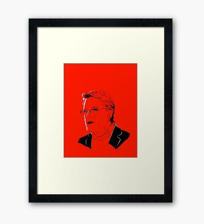 Eddie Izzard, superhero #2 Framed Print