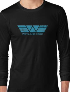 Weyland Corp - Distressed Blue Long Sleeve T-Shirt
