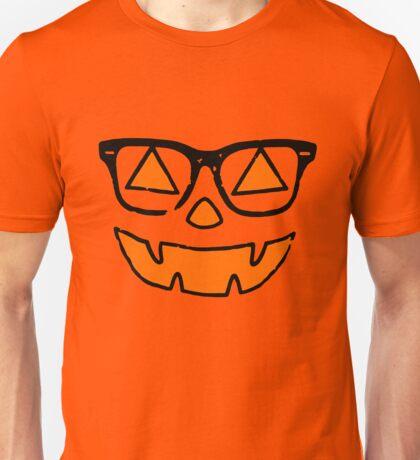 Cute Nerdy Pumpkin Girl Halloween Unisex T-Shirt