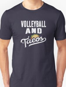 Volleyball and Tacos Best Funny Sports Taco Lover T-Shirt Unisex T-Shirt