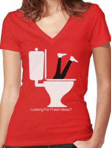 Looking For Fresh Ideas? Women's Fitted V-Neck T-Shirt