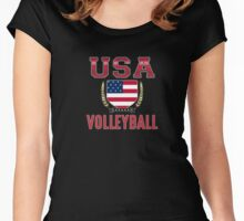 USA Volleyball T-shirt Women's Fitted Scoop T-Shirt