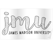 James Madison University - B&W Marble Poster