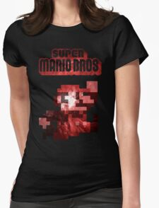 Mario Minimalist Nebula Design Womens Fitted T-Shirt