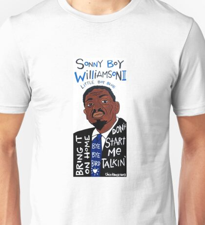 Sonny Boy Williamson II Blues Folk Art Unisex T-Shirt