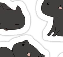 Tongue out Kitty crowd Sticker