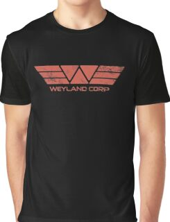 Weyland Corp - Distressed Red Graphic T-Shirt