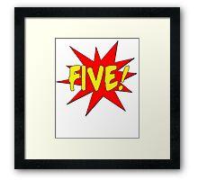 Superhero Kids Birthday Comic Style I'm Five! Framed Print