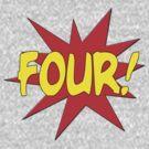 Superhero Kids Birthday Comic Style I'm Four! by Greenbaby