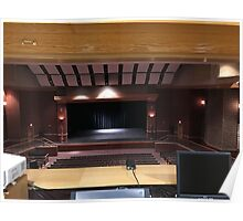 the masters view of an auditorium  Poster