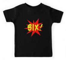 Superhero Kids Birthday Comic Style I'm Six! Kids Tee