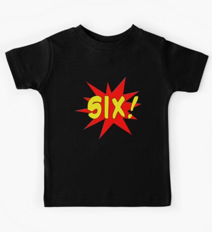 Superhero Kids Birthday Comic Style I'm Six! Kids Tee