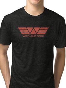 Weyland Corp - Distressed Red Tri-blend T-Shirt