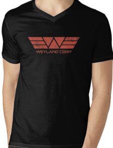 Weyland Corp - Distressed Red Mens V-Neck T-Shirt