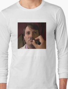 PEEP SHOW DAVID MITCHELL CHAIRMAN MARK HITLER Long Sleeve T-Shirt