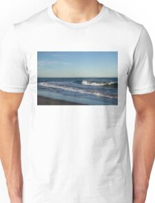 Seventeen Supply Ships Waiting - Aberdeen Scotland Beach Scene Unisex T-Shirt