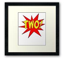 Superhero Kids Birthday Comic Style I'm Two! Framed Print