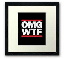 Funny RUN DMC Parody OMG WTF Framed Print