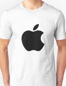 Apple logo (black) Unisex T-Shirt
