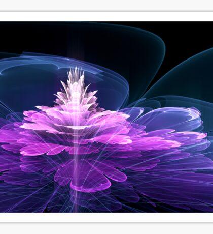 3d Fractal Flower Sticker