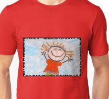 Happy Girl Mosaic Unisex T-Shirt