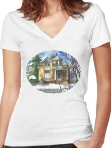 The Brown Bungalow Women's Fitted V-Neck T-Shirt