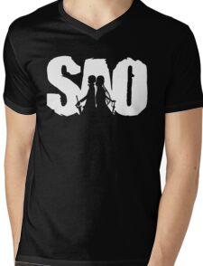 SAO Mens V-Neck T-Shirt