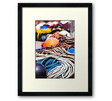 fishing  equipment Framed Print