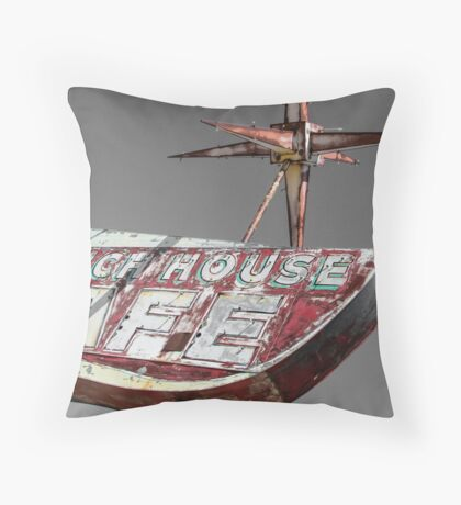 Once Upon a Ranch House Cafe Throw Pillow