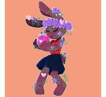 Flower Bunny Photographic Print