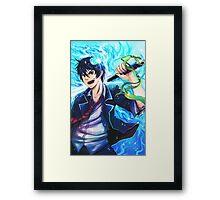 blue exorcist : Rin Framed Print