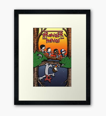 Calvin and Hobbes in the Upside Down Framed Print