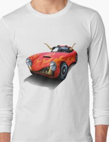 Mean Machine (on red) Long Sleeve T-Shirt