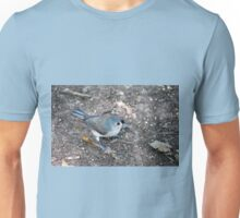 Tufted Titmouse Seed Hunt Unisex T-Shirt