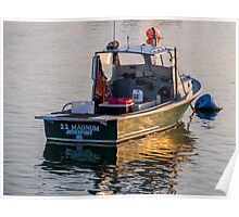 Lobster Boat Down East Maine Poster