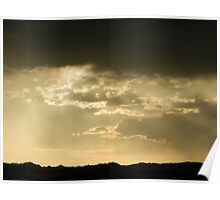 Clouds of Gold over Badland National Park Poster