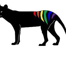 Rainbow Thylacine, Tasmania (light colour version) by phleabytes
