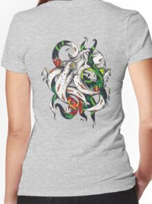 Rosey tentacles Women's Fitted V-Neck T-Shirt