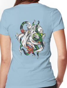 Rosey tentacles Womens Fitted T-Shirt