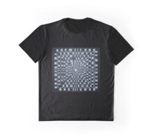 Checkered Abyss Graphic T-Shirt